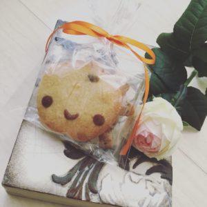 ハロウィンレッスンでの手作りプレゼント。<br /> かぼちゃくんクッキーです♪